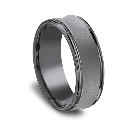 7.5MM CONCAVED TANTALUM BAND RECF87500TA 1 - 7.5MM CONCAVED TANTALUM BAND RECF87500TA