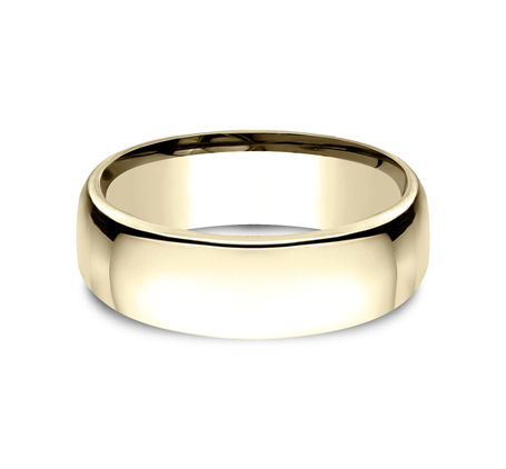 7.5MM YELLOW GOLD CLASSY AND ELEGANT BAND EUCF175Y 2 - 7.5MM YELLOW GOLD CLASSY AND ELEGANT BAND EUCF175Y