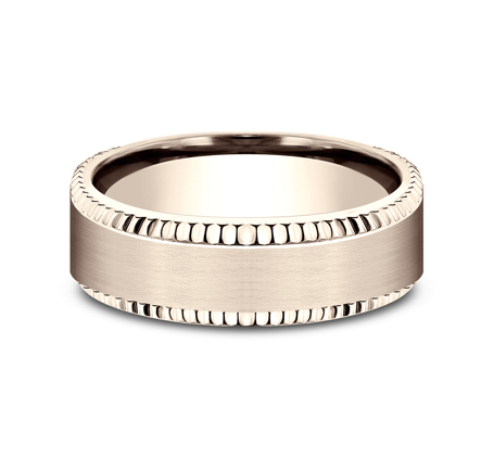 7MM COMFORT FIT ROSE GOLD BAND CF67527R 2 - 7MM COMFORT FIT ROSE GOLD BAND CF67527R