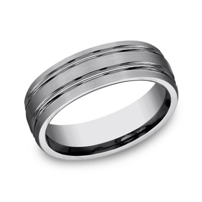 7MM COMFORT FIT TUNGSTEN BAND CF57444TG - 7MM COMFORT-FIT TUNGSTEN BAND CF57444TG