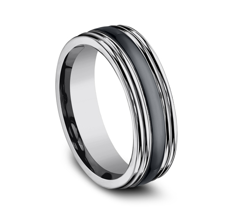 7MM COMFORT FIT TUNGSTEN BAND RECF77863CMTG 1 - 7MM COMFORT-FIT TUNGSTEN BAND RECF77863CMTG
