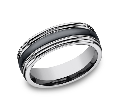 7MM COMFORT FIT TUNGSTEN BAND RECF77863CMTG - 7MM COMFORT-FIT TUNGSTEN BAND RECF77863CMTG