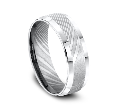 7MM DAMASCUS STEEL COMFORT FIT BAND CF67416DS 2 - 7MM DAMASCUS STEEL COMFORT-FIT BAND CF67416DS