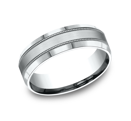 7MM WHITE GOLD COMFORT FIT BAND CF67438W - 7MM WHITE GOLD COMFORT-FIT BAND CF67438W