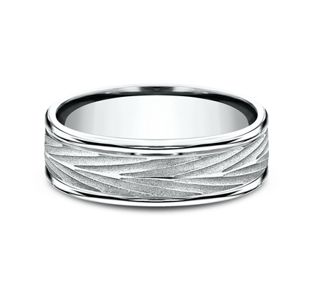 7MM WHITE GOLD COMFORT FIT BAND RECF77337W 2 - 7MM WHITE GOLD COMFORT-FIT BAND RECF77337W