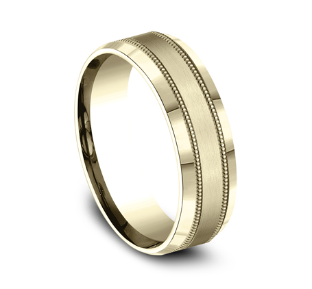 7MM YELLOW GOLD COMFORT FIT BAND CF67438Y 1 - 7MM YELLOW GOLD COMFORT-FIT BAND CF67438Y