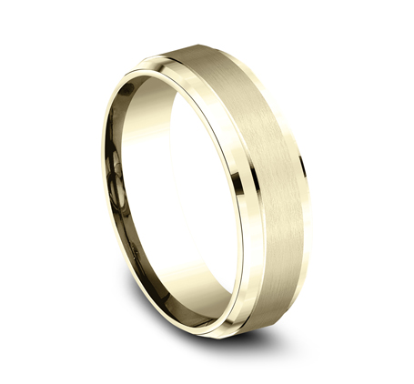 7MM YELLOW GOLD COMFORT FIT SATIN FINISHED BAND CF67351Y 1 - 7MM YELLOW GOLD COMFORT-FIT SATIN-FINISHED BAND CF67351Y