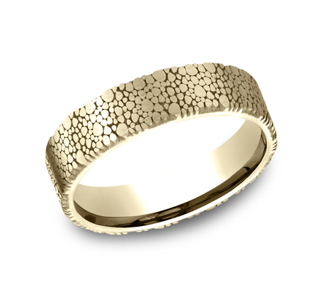 7MM YELLOW GOLD DESIGN BAND - 6MM YELLOW GOLD DESIGN BAND CF896852Y