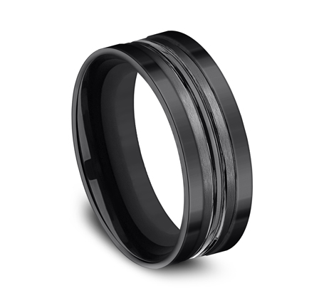 8MM BLACK TITANIUM BAND CFSE58180BKT 1 - 8MM BLACK TITANIUM BAND CFSE58180BKT