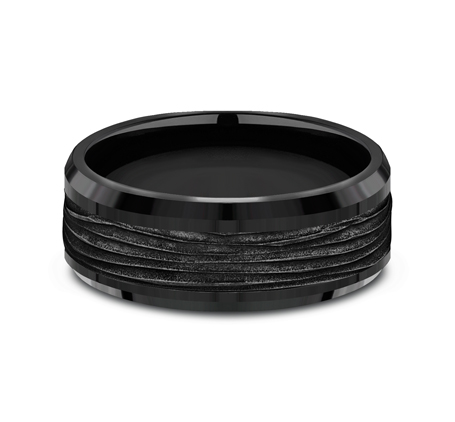 8MM BLACK TITANIUM DESIGN BAND CF368743BKT 2 - 8MM BLACK TITANIUM DESIGN BAND CF368743BKT