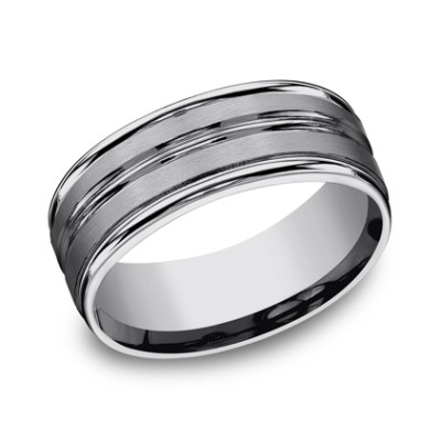 8MM COMFORT FIT TUNGSTEN BAND RECF58180TG - 8MM COMFORT-FIT TUNGSTEN BAND RECF58180TG