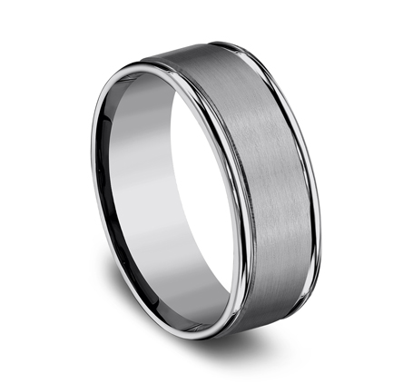 8MM COMFORT FIT TUNGSTEN BAND RECF7802STG 1 - 8MM COMFORT-FIT TUNGSTEN BAND RECF7802STG