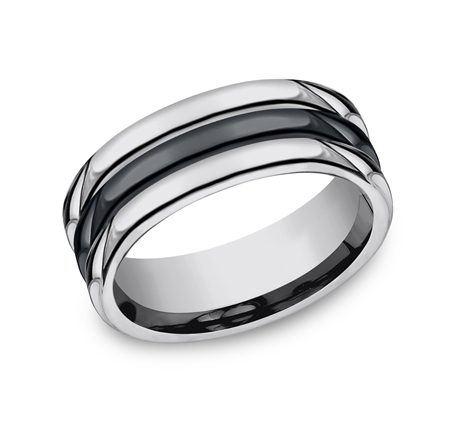 8MM COMFORT FIT TUNGSTEN BAND RECF78862CMTG - 8MM COMFORT-FIT TUNGSTEN BAND RECF78862CMTG