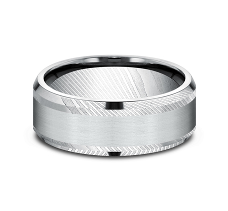 8MM DAMASCUS STEEL DESIGN BAND CF308813DSW 2 - 8MM DAMASCUS STEEL DESIGN BAND CF308813DSW