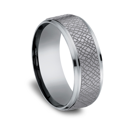 8MM GREY TANTALUM COMFORT FIT BAND CF848833GTA 1 - 8MM GREY TANTALUM COMFORT-FIT BAND CF848833GTA
