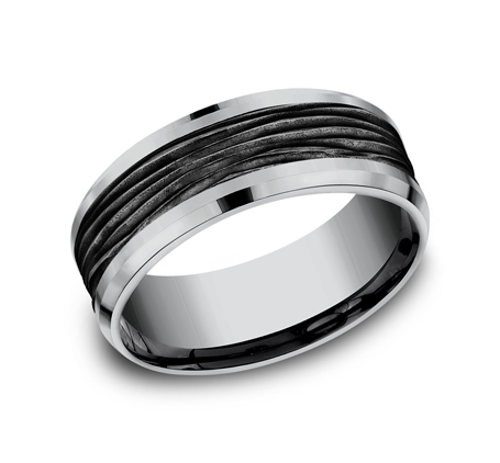 8MM GREY TANTALUM DESIGN BAND CF128743BKTGTA - 8MM GREY TANTALUM DESIGN BAND CF128743BKTGTA