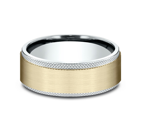8MM MULTI GOLD COMFORT FIT BAND CF208749 2 - 8MM MULTI-GOLD COMFORT-FIT BAND CF208749