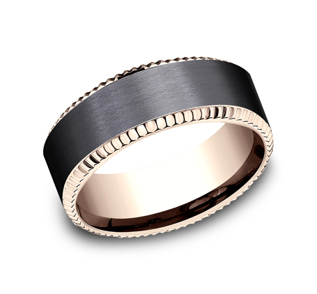8MM ROSE GOLD DESIGN BAND CF468527BKTR - 8MM ROSE GOLD DESIGN BAND CF468527BKTR