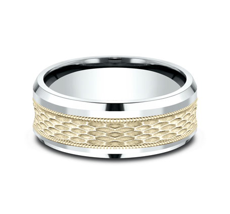 8MM TWO TONE DESIGN BAND CF418497 2 - 8MM TWO TONE DESIGN BAND CF418497