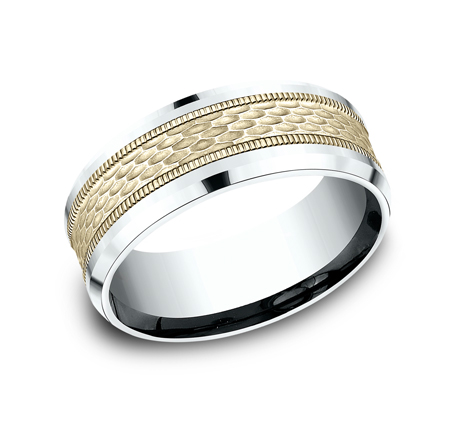 8MM TWO TONE DESIGN BAND CF418497 - 8MM TWO TONE DESIGN BAND CF418497