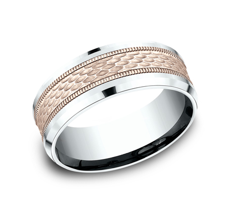 8MM TWO TONE DESIGN BAND CF438497 - 8MM TWO TONE DESIGN BAND CF438497