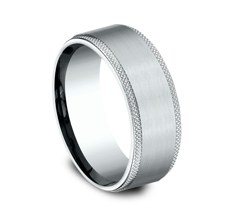 8MM WHITE GOLD COMFORT FIT BAND CF188749W 1 - 8MM WHITE GOLD COMFORT-FIT BAND CF188749W