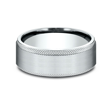 8MM WHITE GOLD COMFORT FIT BAND CF188749W 2 - 8MM WHITE GOLD COMFORT-FIT BAND CF188749W