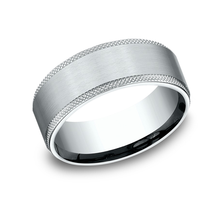 8MM WHITE GOLD COMFORT FIT BAND CF188749W - 8MM WHITE GOLD COMFORT-FIT BAND CF188749W