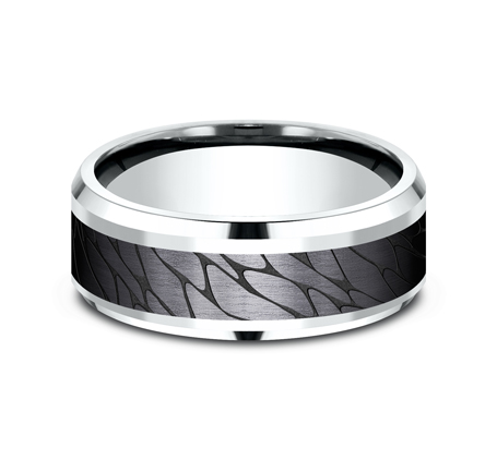 8MM WHITE GOLD DESIGN BAND CF958815BKTW 1 - 8MM WHITE GOLD DESIGN BAND CF958815BKTW