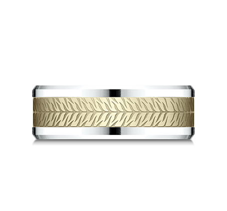 8MM YELLOW GOLD AND WHITE GOLD CF918830 2 - 8MM YELLOW GOLD AND WHITE GOLD CF918830