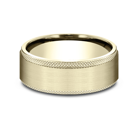 8MM YELLOW GOLD COMFORT FIT BAND CF188749Y 2 - 8MM YELLOW GOLD COMFORT-FIT BAND CF188749Y