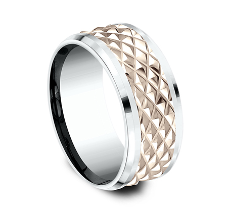 9MM EDGY ROSE GOLD DESIGN BAND CF439679 1 - 9MM EDGY ROSE GOLD DESIGN BAND CF439679