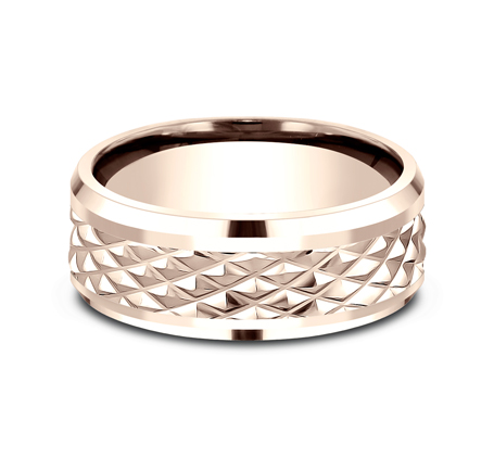 9MM ROSE GOLD DESIGN BAND CF409679R 2 - 9MM ROSE GOLD DESIGN BAND CF409679R