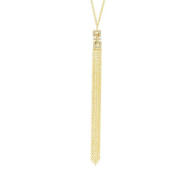0.07ct 14k Yellow Gold Diamond Fringe Pendant SC55003652 - 0.07ct 14k Yellow Gold Diamond Fringe Pendant SC55003652