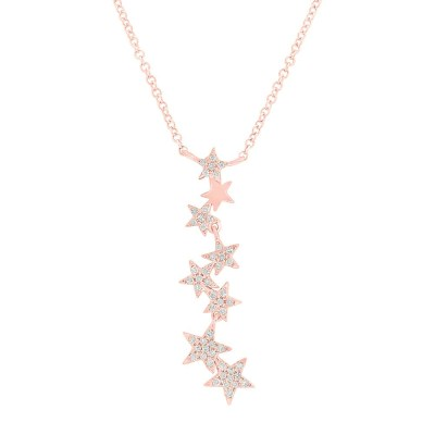 0.11ct 14k Rose Gold Diamond Star Pendant SC55006068 - 0.11ct 14k Rose Gold Diamond Star Pendant SC55006068