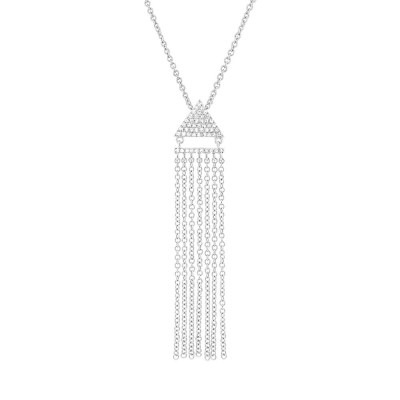 0.11ct 14k White Gold Diamond Fringe Pendant SC55003403 - 0.11ct 14k White Gold Diamond Fringe Pendant SC55003403