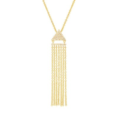 0.11ct 14k Yellow Gold Diamond Fringe Pendant SC55003404 - 0.11ct 14k Yellow Gold Diamond Fringe Pendant SC55003404