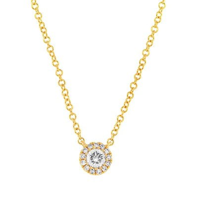 0.14ct 14k Yellow Gold Diamond Pendant SC55002696 - 0.14ct 14k Yellow Gold Diamond Pendant SC55002696