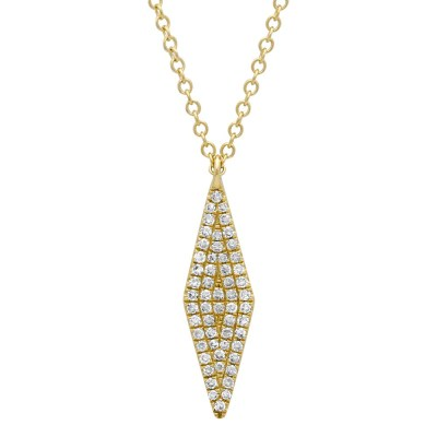 0.17ct 14k Yellow Gold Diamond Pave Pendant SC55001717 - 0.17ct 14k Yellow Gold Diamond Pave Pendant SC55001717