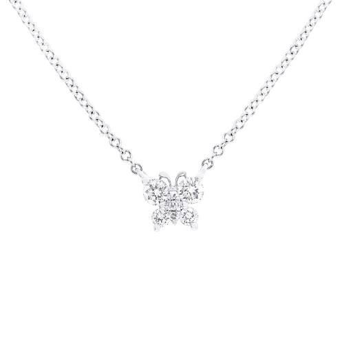 0.19ct 14k White Gold Diamond Butterfly Pendant SC55006276 - 0.19ct 14k White Gold Diamond Butterfly Pendant SC55006276