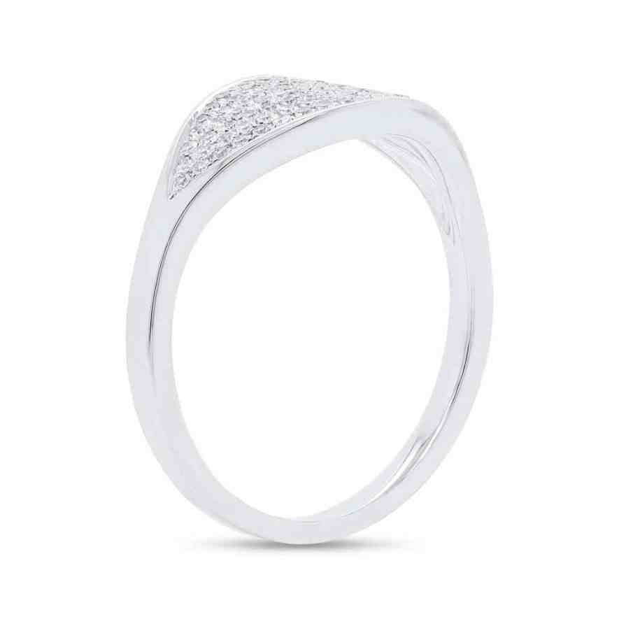 0.24ct 14k White Gold Diamond Pave Ladys Ring SC55006899 2 - Beautiful Engagement Rings at Bova Diamonds are To Die For
