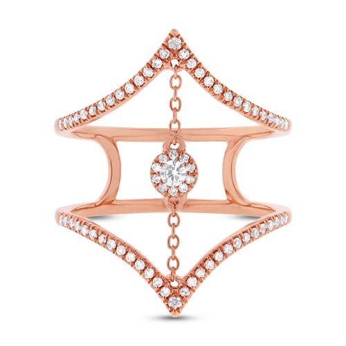 0.26ct 14k Rose Gold Diamond Ladys Ring SC55001808 1 - 0.26ct 14k Rose Gold Diamond Lady's Ring SC55001808