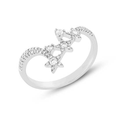 0.26ct 14k White Gold Diamond Star Ring SC55004956 - 0.26ct 14k White Gold Diamond Star Ring SC55004956
