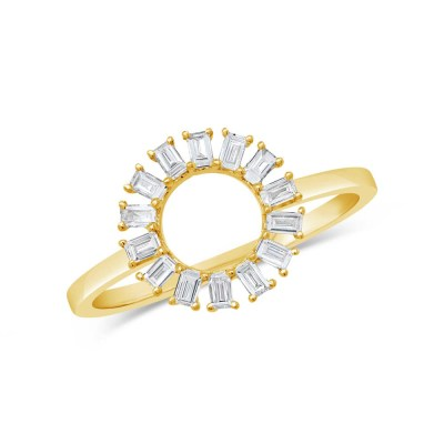 0.28ct 14k Yellow Gold Diamond Baguette Ring SC55007354 - 0.28ct 14k Yellow Gold Diamond Baguette Ring SC55007354
