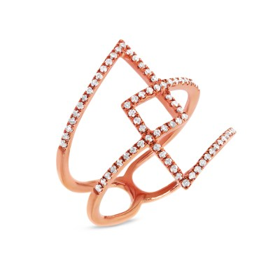 0.30ct 14k Rose Gold Diamond Ladys Ring SC22003359 - 0.30ct 14k Rose Gold Diamond Lady's Ring SC22003359