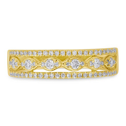 0.31ct 14k Yellow Gold Diamond Ladys Ring SC55005603 1 - 0.31ct 14k Yellow Gold Diamond Lady's Ring SC55005603