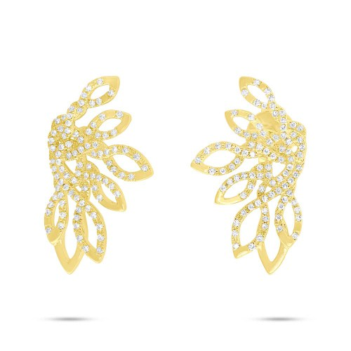 0.33ct 14k Yellow Gold Diamond Earring SC55006724 - 0.33ct 14k Yellow Gold Diamond Earring SC55006724