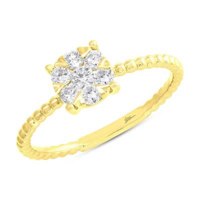 0.35ct 14k Yellow Gold Diamond Cluster Ring SC66001250 - 0.35ct 14k Yellow Gold Diamond Cluster Ring SC66001250