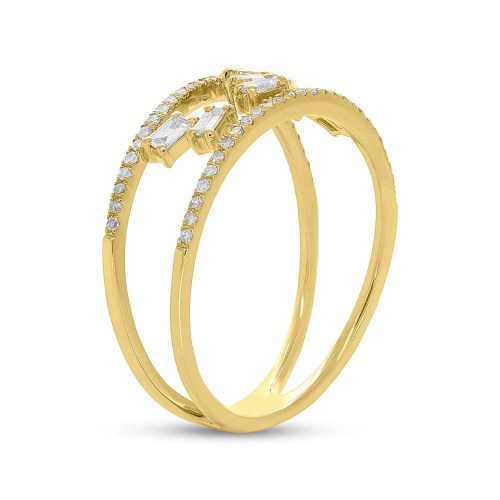 0.36ct 14k Yellow Gold Diamond Baguette Ladys Ring SC36213835 2 - 0.36ct 14k Yellow Gold Diamond Baguette Lady's Ring SC36213835