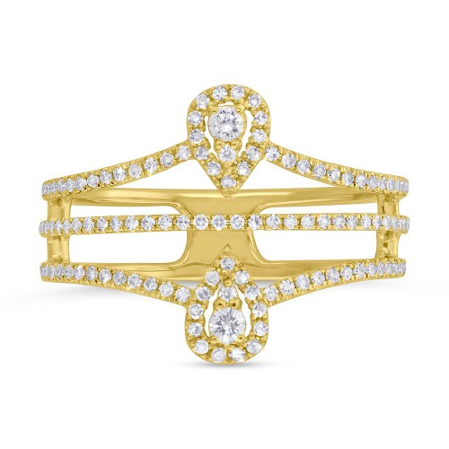 0.37ct 14k Yellow Gold Diamond Ladys Ring SC55005411 1 - 0.37ct 14k Yellow Gold Diamond Lady's Ring SC55005411